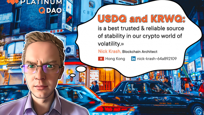 Really Fair Collateral procedures of USDQ and KRWQ stablecoins. Developers of BTCNEXT.io unveil the secret weapon countering the scandal Tether (USDT). Tech hacks from Platinum Q DAO engineering lab in Seul